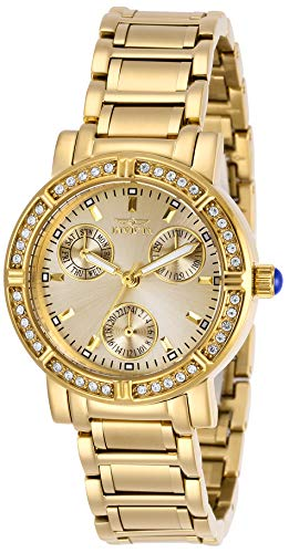 Invicta Women's Angel Quartz Watch with Stainless Steel Strap, Gold, 16 (Model: 29115)