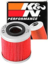 K&N Motorcycle Oil Filter: High Performance, Premium, Designed to be used with Synthetic or Conventional Oils: Fits Select Husqvarna Vehicles, KN-154 , black