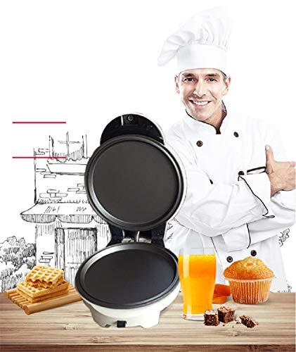 QDYL Máquina de Muffins eléctrica para Hacer gofres eléctricos de 220V Multifuncional para el hogar con 3 Platos Opcionales (Waffles, Forma de corazón, Huevo de Burbujas, donas) (Blanco)