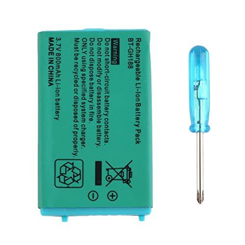 CamKpell Batería Recargable de 3.7V 850 mAh para Nintend para Sistemas Game Boy Advance SP con batería de Litio Destornillador - Verde