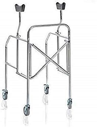 Deambulatore Ascellare Smontabile 4 Ruote Pieghevole Regolabile Per Anziani e Disabili - Originale Cura Farma