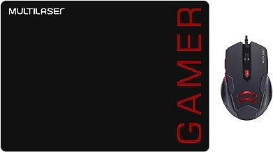 KIT MOUSE PAD+ MOUSE 3200DPI GAMER MO306 PRETO E VERMELHO