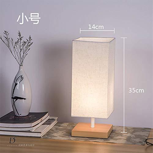 YU-K Simple et élégant couvre tissu woodwork bureau moderne salon chambre à coucher lampe de chevet à intensité réglable lampes de table, couleur du bois,14 * 35cm, blanc gris, l'atténuateur