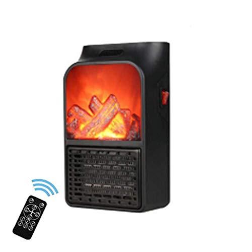 stufa elettrica basso consumo,Termoventilatore,Stufetta Elettrica,stufa elettrica timer 丨 effetto fiamma, 900Wadatto per le famiglie degli uffici
