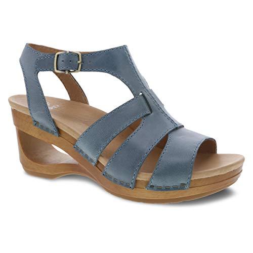 Dansko Women's Trudy Denim Wedge Sandal 7.5-8 M US