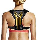 Posture Corrector for Women Men and Kids, Adjustable Shoulder Straps Back Brace Posture Support Belt / Back Straightener / Posture Trainer Effective for Neck, Back and Shoulder Pain Relief (M)