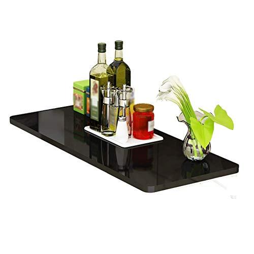 Levendige kantoor/eenvoudige legplank aan de muur bevestigde laptop-staander-opvouwbare boekenkast-koffietafel, op hout gebaseerde plaat 3 kleuren, 15 maten (kleur: ROSA, maat: 80x40cm)