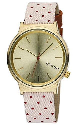 KOMONO Unisex Binär Quarz Uhr mit Stoff Armband KOM-W1837