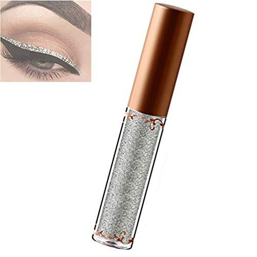 Glitter Liquid Eyeliner, pluma de larga duración resistente al agua para sombras de ojos Cosmetic Professional Glitter maquillaje metálico brillante(1)
