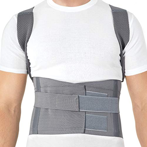 Posture Corrector Shoulder Support Back Brace, Fully Adjustable for Men and Women/TYP 656 Original Small Grey