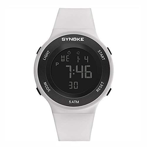 Best Gift!!Lankcook Fitness LED Digital Watch Men Watch Alarm 50m Waterproof Sport Watches