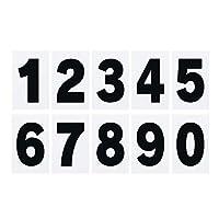 紙製プライスボード用数字シール0~9 (大)各10枚セット