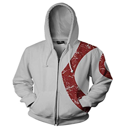 puissant BAOAO Unisexe 3D Print Hoodie Veste à capuche à manches longues pour hommes…