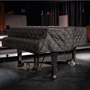 Black Quilted Grand Piano Cover Fits Grand Pianos From 5'10' to 6'0'