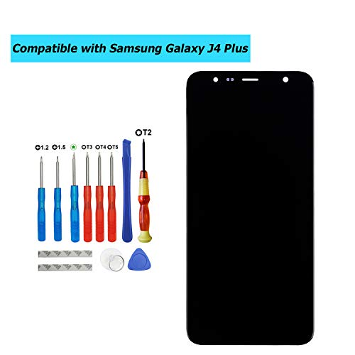 E-YIIVIIL Écran LCD de rechange pour Samsung Galaxy J4 Plus J415F / J6 Plus J610F Noir (sans cadre)