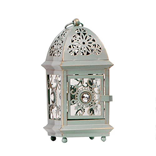 Retro Candlestick Holders, Candlestick Holders for Tables, Hanging Iron Lantern Candlelight Stand Tealight Holder for Wedding Party Halloween Christmas Dining Room Decoration-C