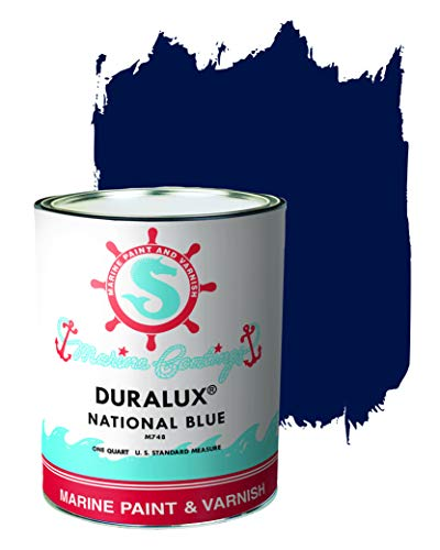 Duralux M748-4 Marine Paint, National Blue Boat Paint, 1 Quart