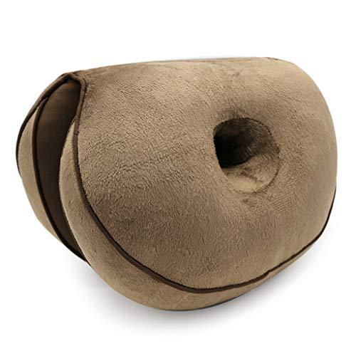 YOYOHO Doppeltes bequemes Sitzkissen Heben Hüftheben Faltbares Haltungskissen - Kaffee