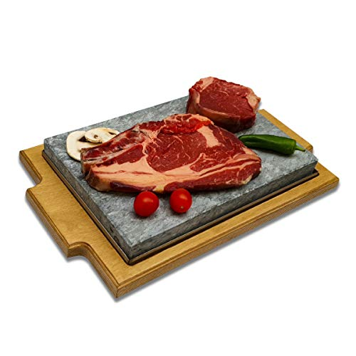 Piedra para Carne de 20x30 Modelo Bandeja Roble