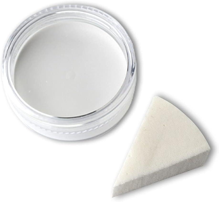 Maquillaje Aqua Premium con Esponja para Fiestas Infantiles Fiestas temáticas de Carnaval de Halloween Payasos Vampiros Zombie Blanco