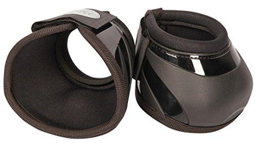 Reitsport Amesbichler Harry's Horse - Campanas de salto con carcasa reforzada y botón interior para evitar que se gire, forro de neopreno, color negro, talla XL