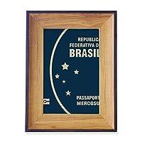 観光国ブラジル フォトフレーム、デスクトップ、木製