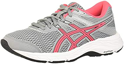 ASICS Women's Gel-Contend 6 Running Shoes, 9, Sheet Rock/Diva Pink