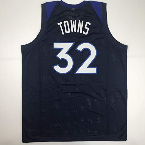 Unsigned Karl-Anthony Towns Minnesota Blue Custom Stitched Basketball Jersey Size Men's XL New No Brands/Logos