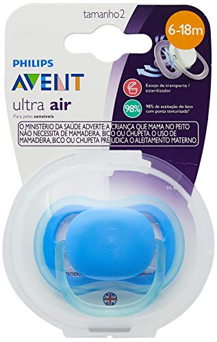 Chupeta Ultra Air Lisa 6-18 Meses Unitária, Philips Avent, Azul