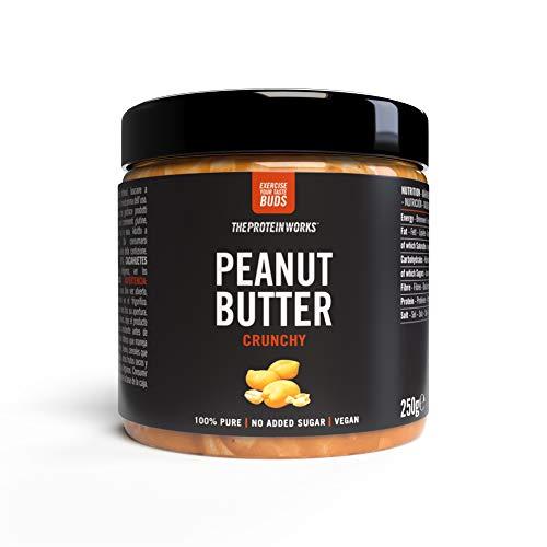 The Protein Works Beurre de Cacahuètes 100% Naturel sans Sucre Ajouté Croustillant 250 g