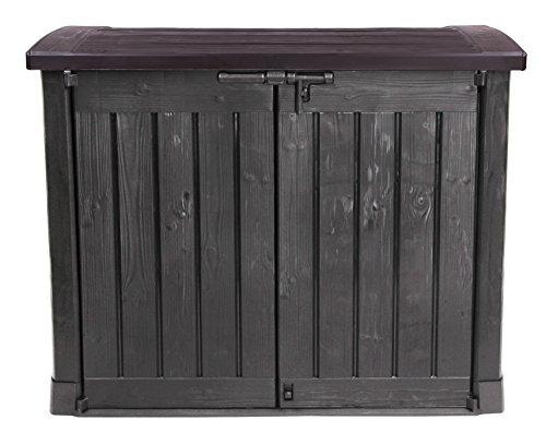 Ondis24 - Mülltonnenboxen in Anthrazit Braun, Größe 1200 L