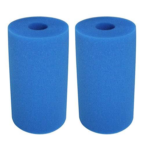 GeKLok 2 filtros de espuma de piscina, reutilizables y lavables, compatibles con tipo B, 26 x 16 cm