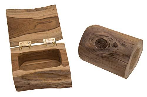 ROMBOL Teakholz-Box, rund, naturbelassen, aus einem AST