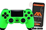 Soft Touch Neon Green Ps4 PRO Rapid Fire Custom Modded Controller 40 Mods for All Major Shooter Games, Quick Scope, Auto Run, Sniper Breath, Jump Shot, Active Reload & More (CUH-ZCT2)