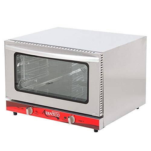 Half Size Commercial Restaurant Kitchen Countertop Electric Convection Oven Holds (4) 1/2 size sheet pans 120V, 1600W