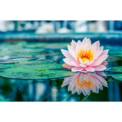 Kit fai da te 5D, pittura a mosaico con strass a forma di fiore di loto, ricamo a punto croce di natale, puzzle diamond painting adesivi per casa cucina hotel saloni di bellezza pareti, 40 x 30 cm