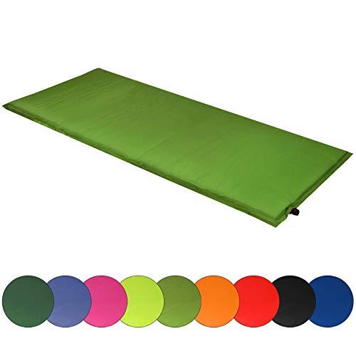 ALPIDEX Isomatte Selfinflating Matte Selbstaufblasende Outdoor Thermomatte in Verschiedene Größen und Farben, Farbe:Military, Maße:200 x 66 x 6.0 cm