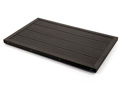 Steinbach Outdoor-Bodenelement für Leitern & Solarduschen, Befestigungskit, dunkelgrau, 049028