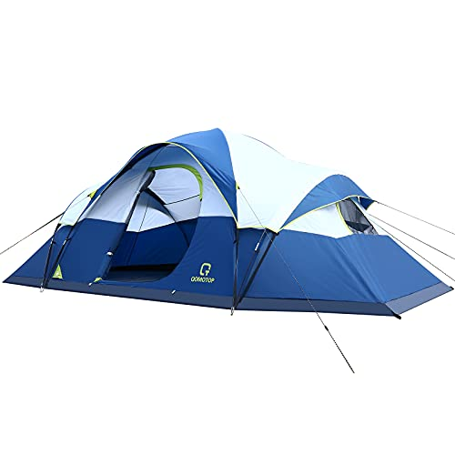 OT QOMOTOP Tents, 9 Person Easy Setup Camping Tent, Waterproof and Windproof Pop Up Tent with Top Rainfly, Portable Instant Tent, Advanced Venting Design, Provide Mud Mat