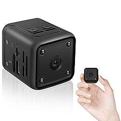 Mini Kamera,HD 1080P Kleine Überwachungskamera mit Bewegungserfassung und Infrarot Nachtsicht Büro Videoanrufkamera Nanny Sicherheitskamera für Innen Aussen