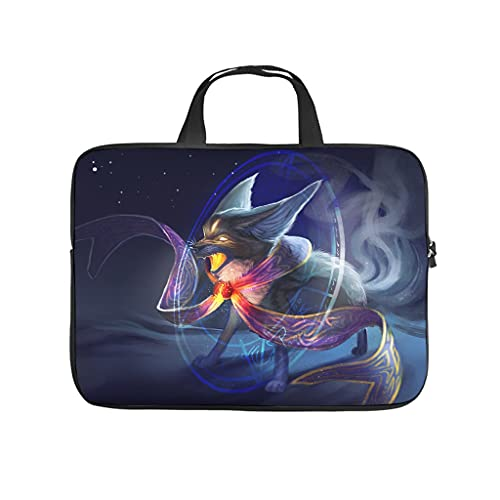 Facbalaign Laptop Bag Kitsune And Is Tablet Bag Portable Soft Wear-Resistant With Handle