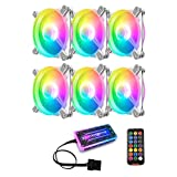 A/A enjoymentlin 16 RGB LED Cojinetes Hidráulicos PC Caja Ventilador...