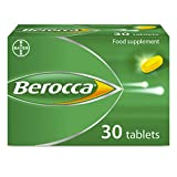 Berocca Energy Vitamin Capsules, High Dose of Vitamin B Complex, Vitamin B12, Also Contains Vitamin C and Magnesium, Pack of 30 - 1 Months Supply