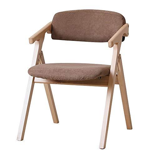 Esszimmerstühle,Tragbarer Massivholz-Klappstuhl Sparen Sie Platz Ergonomie-Sessel Verhandlungsstuhl für den Haushalt Nennbelastbarkeit: 264 lbs (Color : Brown)