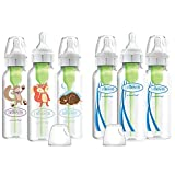 Dr. Brown's Options + Narrow Baby Bottles, Woodland Animals, 8 oz, 6 Count