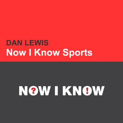 Now I Know Sports audiobook cover art