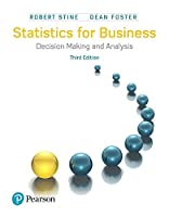 Statistics for Business: Decision Making and Analysis, 3rd Edition Front Cover