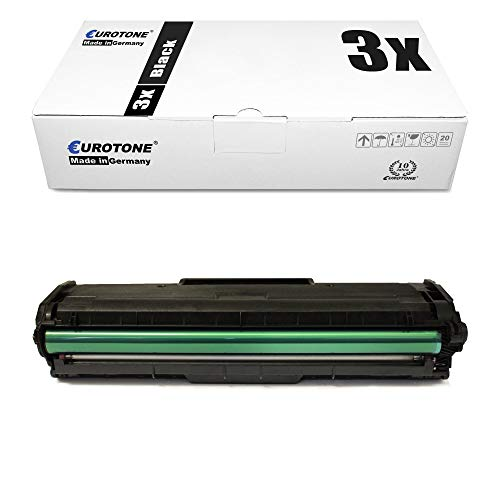 3x Eurotone Toner Cartridge for Dell B 1160 1163 1165 w nfw replaces 593-11108 HF44N