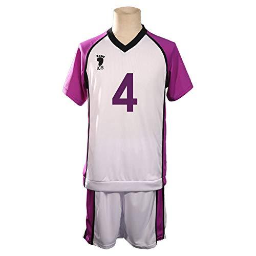 EDMKO Costume Cosplay di Haikyuu, Camicia E Pantalone Volley Maglietta Uniforme di Jersey Academy Daping Lion Sound Jersey Set da Pallavolo,M