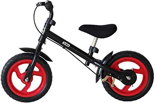 Fantastic Deal! YPYJ Kids Balance Training Bike 12 Inch Children No-Pedal Learn to Ride Bike Walking Partner Aluminum Alloy Frame & Inflatable Rubber Tires,Black